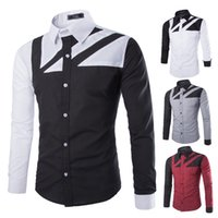 Wholesale Amy fall and winter new style shirt hit the color of the wind and simple men s casual long sleeved shirt