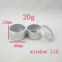 aluminum window capping - 20g cosmetic aluminum containers ml disposable aluminum container cosmetic packaging jar g with window cap bottles