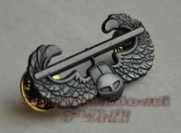 aluminum gliders - 2016 Russian Military Uniform American Metal Badge Us Army Usarmy Air Assault Glider Metal Skills Chapter Badge Matte Color