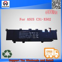asus laptop computer battery - 100 New original laptop battery for Asus PU500 PU500C PU500CA VivoBook S500C S500CA C31 X502 computer batttery