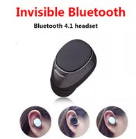 Cheap Wholesale-Super Mini stereo invisible bluetooth headset wireless V4.1 handfree Smallest bluetooth earphone headphone for Samsung all phone
