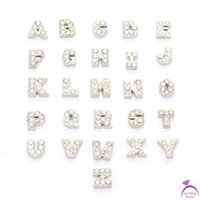 word charms - alloy Alphabet letter word crystal A Z origami owl floating charms for living glass memory glass lockets FC181