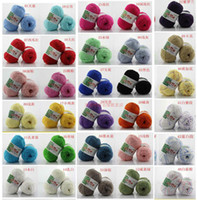 Cheap P10 New 5 Balls Bamboo Yarn Cashmere Cotton Silk Baby Knitting Yarn Sweater Silk wool cashmere warm soft baby yarn Knitting
