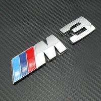 Wholesale ABS M3 Car Badge Emblem Sticker Trunk Auto D Sticker New Retail M3 M power M tech Car Trunk Badge Emblem