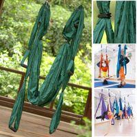 Wholesale High Strength Decompression Hammock Inversion Trapeze Anti Gravity Aerial Yoga Gym Swing Dark Green
