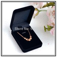 Wholesale x5 x2 cm Black Fashion Velvet Jewelry Necklace Gift Packaging Display Box Case
