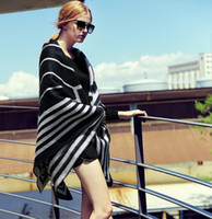 wool blanket - 2014 New Fashion Women Woolen Blanket Poncho Striped Grid Patchwrok Wool Plain Cape For Ladies Poncho