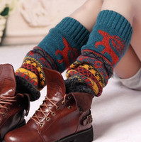wool boot socks - 2014 New Hot Sale Winter Colorful Snowflake Christmas Deer Boot Socks Wool Women Gaiters Keep Warmer Knitted Leg Warmers High quality