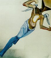 Cheap Absract Art Lanscape,Surrealist Angel by Salvador dali oil painting on Canvas,High quality,Hand-painted