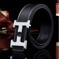 Wholesale 2015 designer belts men high quality alligator strap smooth buckle belt fashion men s casual belt