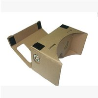 Wholesale DIY Google Cardboard Mobile Phone Virtual Reality D Glasses Unofficial Cardboard Google Cardboard VR Toolkit D Glasses CCA1785