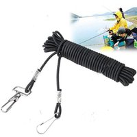 Cheap Free shiping!195-inch Metal Lobster Clasp Stretchy Fishing Lanyard Cable Rope Fish Rod Protector - Color Assorted HHF-117029