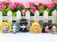 Wholesale JP Anime Sailor Moon Keychain keyring Action figures toy set