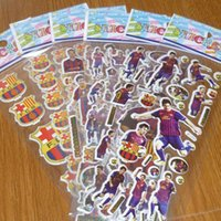 Wholesale Messi D PVC Anime Cartoon Stickers Kids Toys Cartoon Craft Scrapbook Children Classic Toys baby Stickers