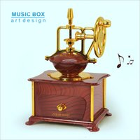 music box movements - Creative unusual boyfriend girlfriend a birthday present Legendary classic desktop coffee machine music box of realistic movement coffee mac