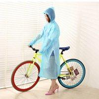 Wholesale 2015 New Transparent Raincoats Men Women Neutral PVC Raincoat Runway Style Rain Coat Glisten Bar Hoody Waterproof Raincoat