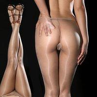 Cheap Super Thin DY sexy stockings hot Gipsy Women's Invisible Seamless oil silk Shiny Glossy Sheer Stocking Nylon pantyhose hose Tights