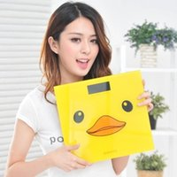 bathroom scales accurate - big yellow duck cartoon accurate electronic scale household weighing machine LCD digital display