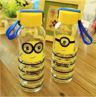 Wholesale 30pcs Car Water Cup Cartoon Minions Despicable Me glass Texture Suction Cup Vacuum Cup ML