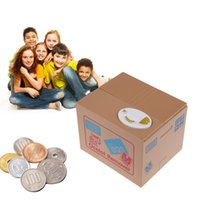 automated homes - New Money Boxes Coin Piggy Bank Automated Savings Box Toy Gift Yellow Steal Brand Home decor