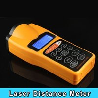 ultrasonic distance meter - New arrival CP Handheld LCD ultrasonic Laser Distance Meter Measurer up to Meter or Range for construction building
