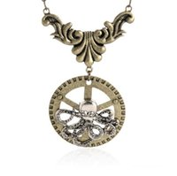 beaded octopus - Steampunk Antique Vintage octopus Necklace Pendant Steam Punk Copper Machine Gear Retro Women Men Pendant necklace Vintage jewelry