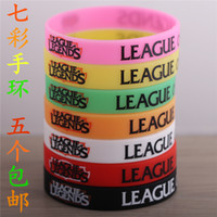 Wholesale Lol hero Alliance LOL surrounding silicone bracelet bracelet bracelet strap hand games and animation support