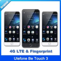 Cheap Original Ulefone Be Touch 3 Cellphone Fingerprint 5.5 Inch 4G LTE Octa Core Android 5.1 3GB 16GB MTK6753 13MP Smartphone Unlock Cell Phones