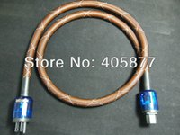 Cheap LINN K-800 Copper Power Cable with mesh Sleeves DIY Oyaide plugs 1.5m Tube Amp power cable