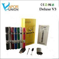 Origine Clover Deluxe V3 chambre de l'herbe sèche cire ego vaporisateur portable kit stylo 350mAh avec 7 couleurs à base de plantes vapeur mod Ecig VS Titan-2