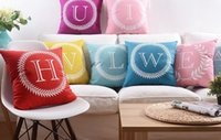 baby names love - 26 English Letters Cushion Covers Colorful Home Love Crown Baby Names Initials Pillow Cover Velvet Cushions Pillowcase Birthday Gift