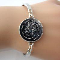 arts pictures house - Art Picture Glass Charm Bracelet Good Gift Ideas Game Of Thrones Bracelet House Targaryen Bangle Movie Bracelet Movie jewelry
