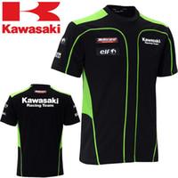 Wholesale 2016 Summer KAWASAKI kawasaki off road motorcycle clothing automobile race ride short sleeve T shirt