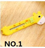 Wholesale YYYYAAAA Cute Giraffe Utility Knife Paper Cutter Cutting Paper Razor Blade Office Stationery School Supply