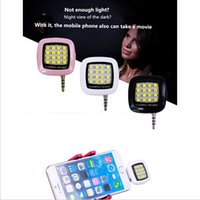 Wholesale 16 LED Smartphone Flash Fill light for Android IOS WP8 Cellphones and Tablets with Mini USB Charging Port