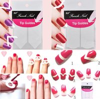 assorted nail decals - New decals Assorted Styles French Manicure Nail Art Tips Guides Sticker Acrylic False Nail Tips Decals Polish Beauty Tools