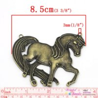 animal attachment - Charm Pendants Horse Animal Antique Bronze x6 cm K02805 seasons pendant attachment pendant murano pendant murano
