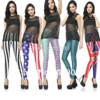 Cheap Fashion Brand Women Fish Scale Mermaid Printed Sexy Leggings Skinny 7 Style One Size Free Shipping