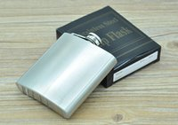 Wholesale Brass lid oz ML Stainless Steel Hip Flask Personalized Flagon High Quality Portable Wine Whisky Pot Bottle Drinkware For Drinker ak068