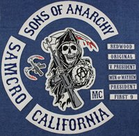 Wholesale Hot Selling Sons of Anarchy Embroidery PU Leather Patches for Jacket Biker Full Size and Full Set