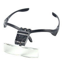 Wholesale Lupas De Aumento Lens X X Folding Watch Headset Magnifier Magnifying Glass Headlamp loupe with LED Eyelash Extension lights
