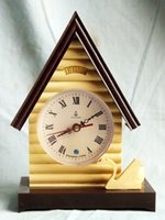 Wholesale Antique Bud brand steeple house big white swan mechanical alarm clock