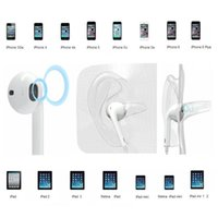 Wholesale Authentic Headphone white Ear buds iPhone7 s G Earphone mm Stereo Handsfree with Remote Mic ipad6 Air2 Headset With box