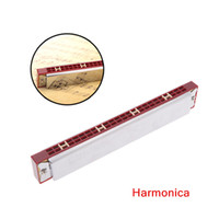 Wholesale 24 Double Harmonica Tremolo Harmonica Mouth Organ C Key with Case Top Quality Woodwind Instruments
