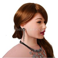 Wholesale Oral sex dolls female sex doll offer blow job with holes for sex auto suction inner sexy sound and vibrasition stand position