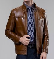 clothing made in china - Fall Crazy promotion New arrival zipper brown male jacket leather men design classic casual made in china clothing british style
