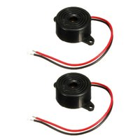 Wholesale New Black DB Alarm High decibel V V Electronic Buzzer Continuous Beep Mounting Hole small order no tracking
