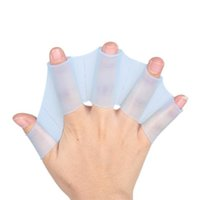 Wholesale Hot Sale Silicone Hand Swimming Fins Flippers Fast Finger Gloves Web Paddle Blue S ASAF