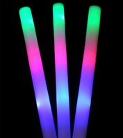 Wholesale 1Manufacturers colorful GLOW stick our large sponge sponge glo sticks concert silver bar flashing LED terms GLOW STICKS