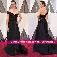 Wholesale 2016 Oscars th Jennifer Garner Red Carpet Celebrity Dresses Unique Black Long Arabic Formal Evening Prom Gowns for Women Wear Sale Cheap